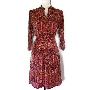 TACERA  Shift Dress Moroccan Print